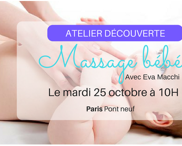 Atelier découverte massage bébé à Paris