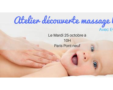 Atelier Massage Bébé à Paris