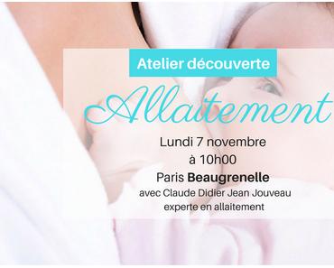 Atelier découverte gratuit sur l'allaitement maternel