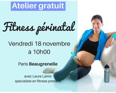 Atelier gratuit fitness périnatal