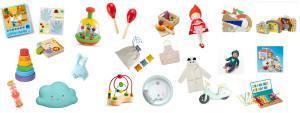 Des cadeaux de Noël pour bébés et petits enfants