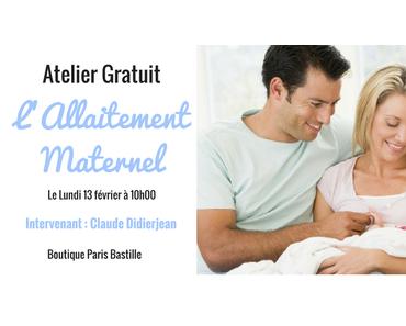 ATELIER GRATUIT : L'ALLAITEMENT MATERNEL