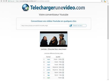 Convertisseur Youtube vers MP4 (vidéo) et MP3 (audio)