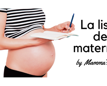 Ma liste de maternité avec MammaFashion !
