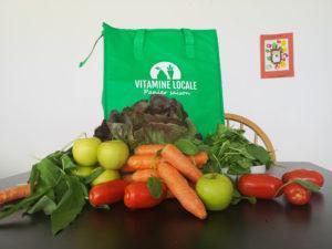 Fruits, légumes et produits de la région livrés à la maison avec Vitamine Locale